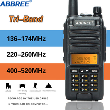 Abbree AR F3  Tri Band Walkie Talkie 8w dual band and 220 260MHz high power long range travel cb Transmitter two way radio