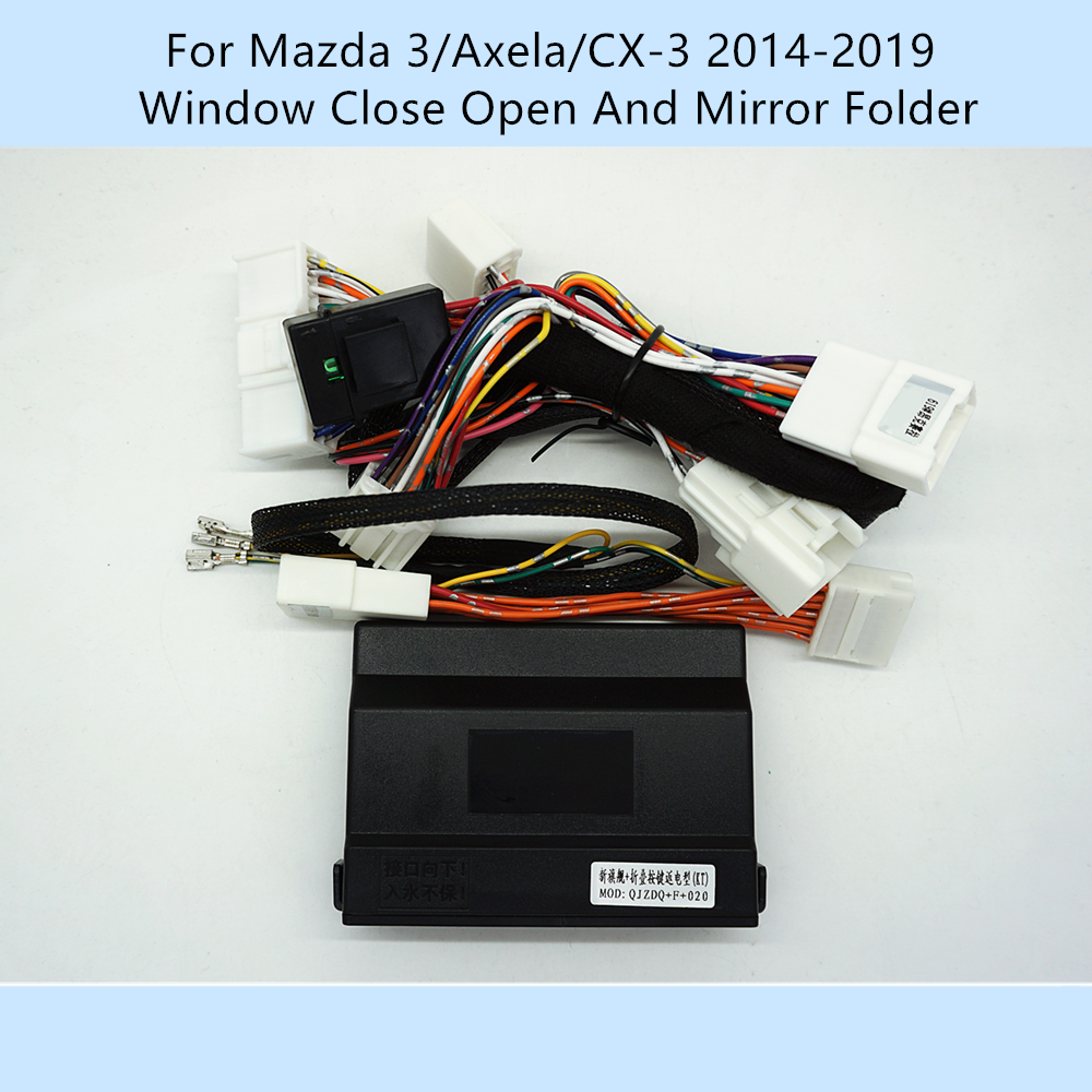 Car Automatically 4 Door Window Closer Open Side Mirror Folder Folding Spread For Mazda 3/Axela/CX-3 2014-2019