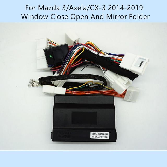 Car Automatically 4 Door Window Closer Open Side Mirror Folder Folding Spread For Mazda 3/Axela/CX 3 2014 2019/Mazda 2 2016 2019