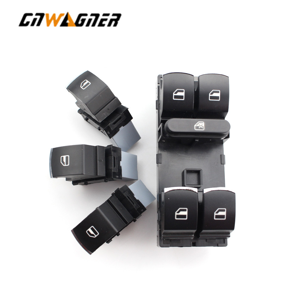 4pcs/Set Window Control Switch Button For Volkswagen VW Golf MK5 6 Jetta Passat B6 Tiguan Rabbit Touran 5ND 959 857 5ND 959 855(China)
