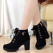 Женские ботинки; женская обувь; женские ботильоны на толстом меху; женская обувь на резиновой подошве на высоком каблуке и платформе; зимние ботинки; jmi8