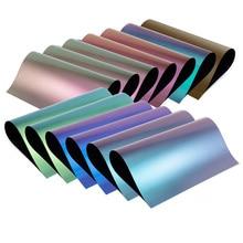 1 sheet 25cmx25cm Color Change Chameleon Heat Transfer Vinyl noctilucent Heat Press Machine Tshirt Iron On HTV