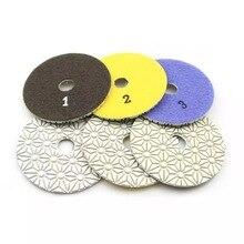 6 pcs 4 inch flexible Wet polishing pads diamond polishing pads for marble granite ceramic tile concrete