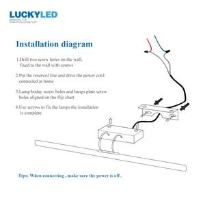 Image 5 - LUCKYLED מודרני Led מראה אור 8W 12W AC90 260V קיר רכוב קיר מנורת חדר אמבטיה אור עמיד למים נירוסטה
