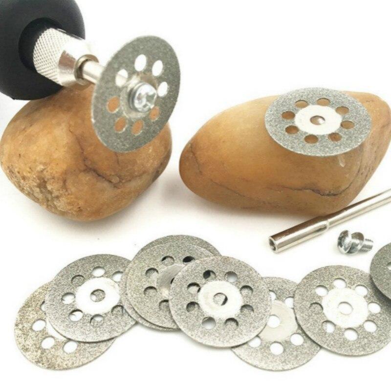 10pcs/lot Diamond Grinding Wheel Saw Circular Cutting Disc For Dremel Rotary Tool Diamond Discs Blades Power Tools Accessories