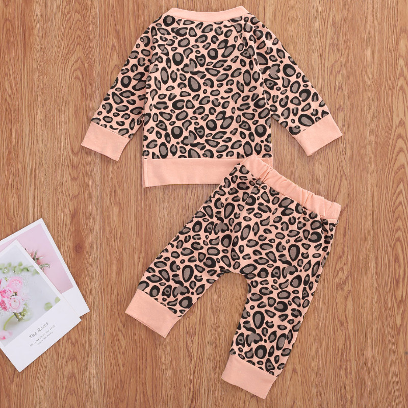 Big Offer B158 Baby Girls Spring Autumn Clothes Toddler Newborn Infant Long Sleeve Leopard Sweatshirts Pants Leggings Tracksuits Outfits Cicig Co