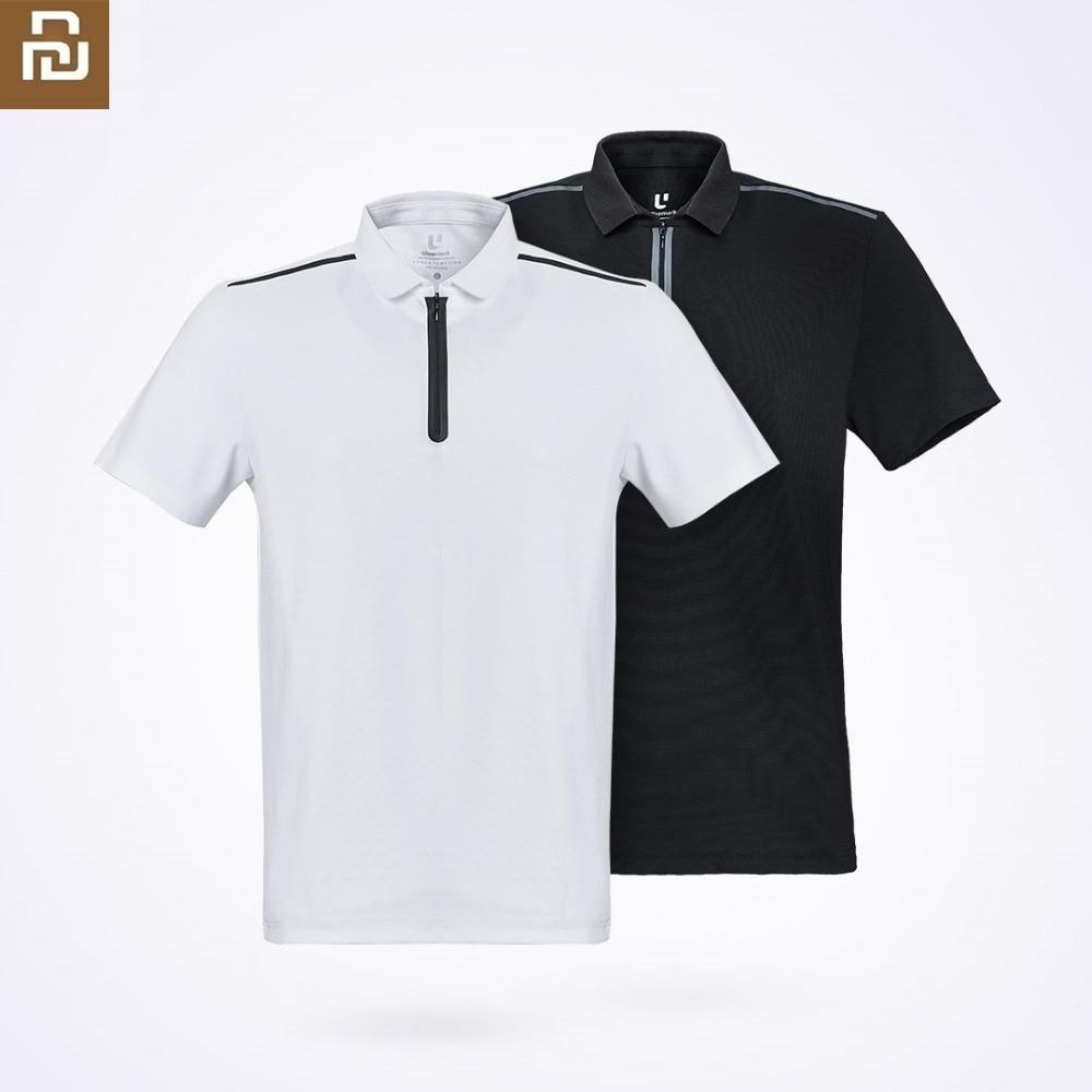 Youpin ULEEMARK Men's Fashion Function Sports POLO Shirt Breathable  Washable YKK Zipper Lapel Short Sleeve
