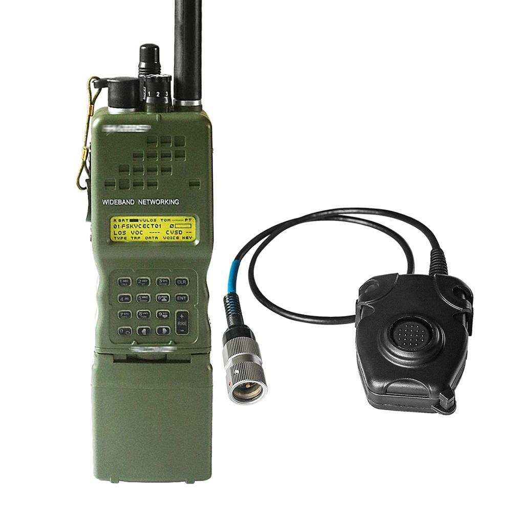 Tactics PRC-152 PRC 152 Harris Dummy Radio Case ,Military Talkie-Walkie Model For Baofeng Radio,No Function+ Peltor 6 Pin PTT