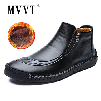 Size 48 Men Winter boots Split Leather Boots Men Snow Boots Super Comfort Winter Shoes Men Ankle Boots Fur Men Shoes Snow mvvt plus size men winter boots quality pu fabric waterproof snow boots men winter shoes men s ankle boots with fur men shoes page 1