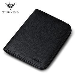 WILLIAMPOLO из натуральной кожи дизайнерские кошельки известный бренд милый кошелек Тонкий кошелек Малый волшебный кошелек PL149