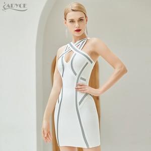 Image 2 - Adyce 2020 New Summer Woman Bandage Dress Vestidos Sexy Black White Sleeveless Tank Bodycon Club Celebrity Runway Party Dresses