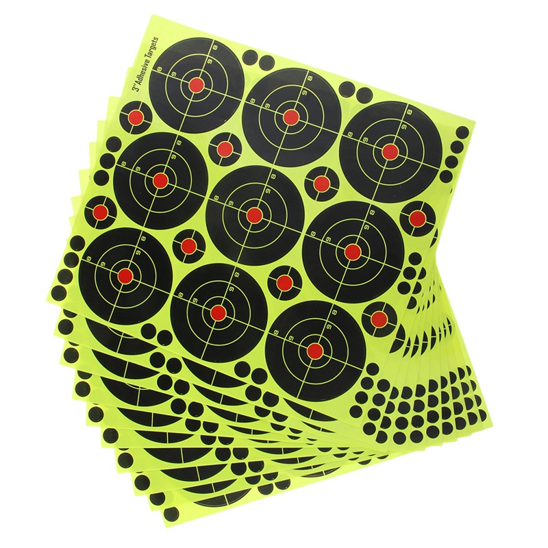 90Pcs 3 Inch Targets Reactive Splatter Paper Target For Archery Hunting