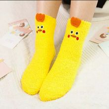 Women Girls Colorful Indoors Fluffy Fuzzy Slipper Socks, 3D Cute Animals Winter Warm Crew Fuzzy Socks Value Pack все цены