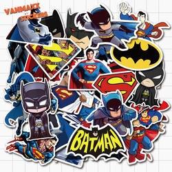 VANMAXX 45 шт. Супермен и Бэтмен DC супергерой граффити наклейки водонепроницаемые виниловые наклейки для шлем для ноутбука велосипед багаж