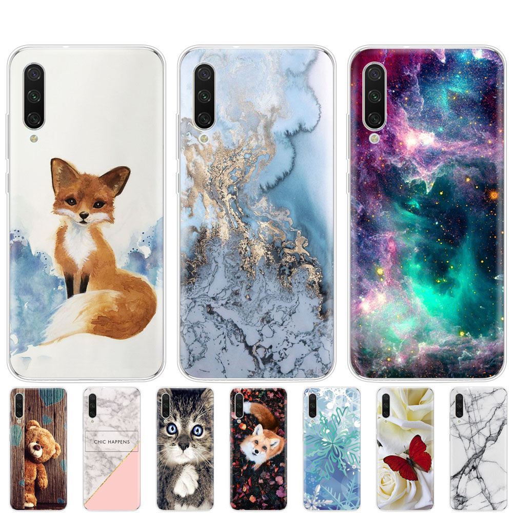 Silicon Case For Xiaomi MI A3 Case Cover Soft Tpu Back Coque For Xiomi MI A3 Bumper Painted Shells Bags Shockproof Cute Cartoon