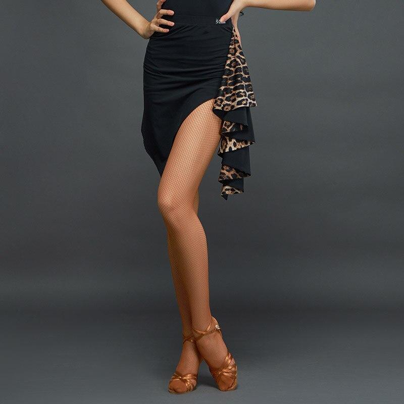 2020 New Latin Skirt Dance new latin dance skirt adult professional latin dance practice clothes female adult leopard dance