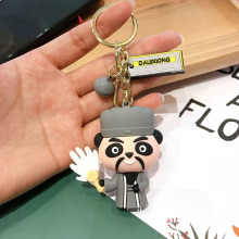 New Chinese Style Keychains Romance Of The Three Kingdoms Cartoon Key Chains Liu Bei Guan Yu Zhang Fei Doll Must For Cute 2020 fei yu