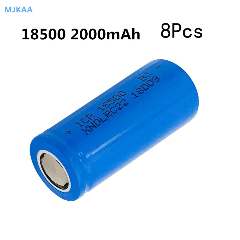 5Pcs/lot <font><b>18500</b></font> <font><b>Battery</b></font> 3.7V 2000mAh Rechargeable <font><b>Battery</b></font> LED Flashlight, headlamp, mechanical mod image