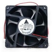 AFB1224VHE 12cm 12038 120*120*38 milímetros DC 24V 0.57A 2-fio Inversor Ventilador De Refrigeração