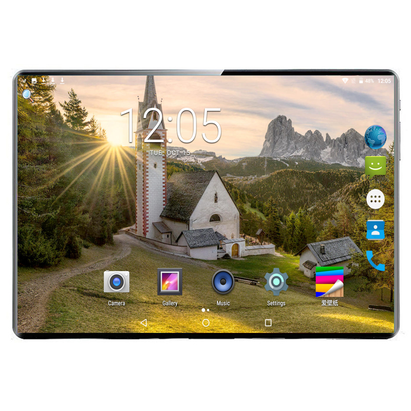 8G+128G 4G LTE Dual Card Call Tablet Pc Mtk6797 10 Core 1920x1200 Ips Dual Camera 8.0MP GPS WIFI Android 9.0 Google Market