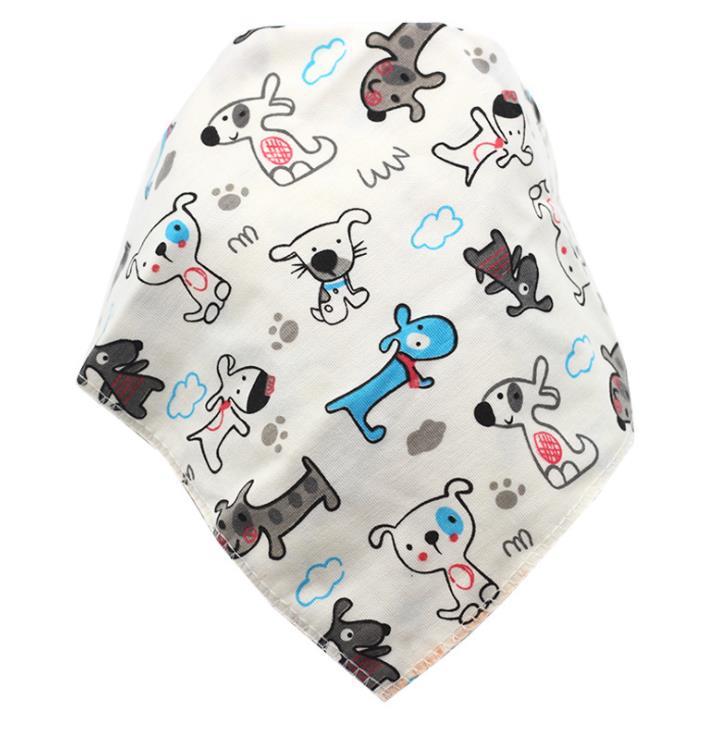 Baby Bibs Waterproof Triangle Cotton Cartoon Child Baberos Bandana Bibs Babador Dribble Bibs Newborn Slabber Absorbent Cloth 2
