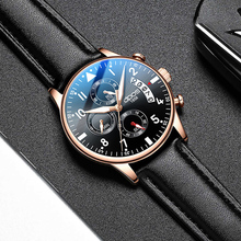 Relogio Masculino Watches Men Fashion 2019 Leather Band Sport Stainless Steel Case Watch Quartz Business Wristwatch Reloj Hombre