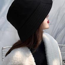 Hats Cap Bucket-Hat Spring Fisherman's Wool Female Keep-Warm Women Summer Ladies Lamb