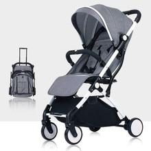 7Kg Lightweight Portable Folding Luxury Baby Strollers Hot Mom Stroller Yoya Plus 3 Umbrella Pink