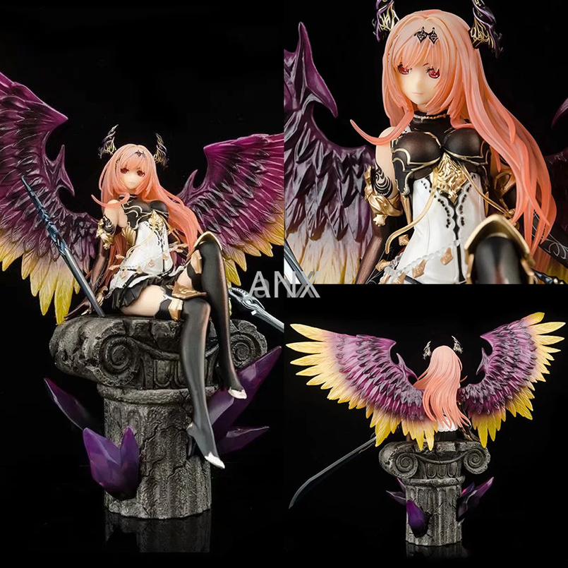 29CM Rage of Bahamut <font><b>Figure</b></font> Dark Angel PVC Dark Knight Action <font><b>Sexy</b></font> Girls Demon <font><b>Figure</b></font> Collectible Model Toys For Children Gift image