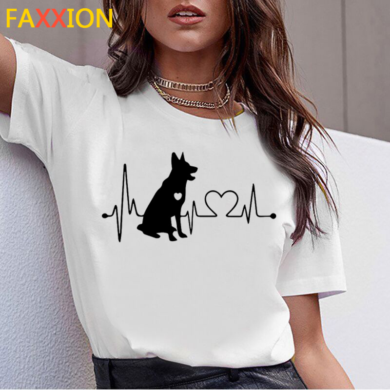 Dachshund Pug Teckel Dog TShirt Women Summer Cute French Bulldog Frances German Shepherd T-shirt Pit Bull Tshirt Top Female