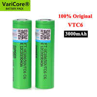 VariCore-Batería de iones de litio VTC6, 3,7 V, 3000 mAh, descarga de 18650 30A para VC18650VTC6, linterna de juguete, herramientas para cigarrillo electrónico