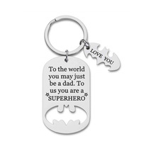 sons and lovers New Father's Day Gift Keychains Cute Creative Sons And Daughters Car Key Chain Children Bag Pendant Keyring Lovers Holiday Gifts