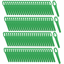 100Pcs Grass Trimmer Plastic Blade Plastic Mower Cutting Blades For Strimmer Grass Trimmer Lawn Mower