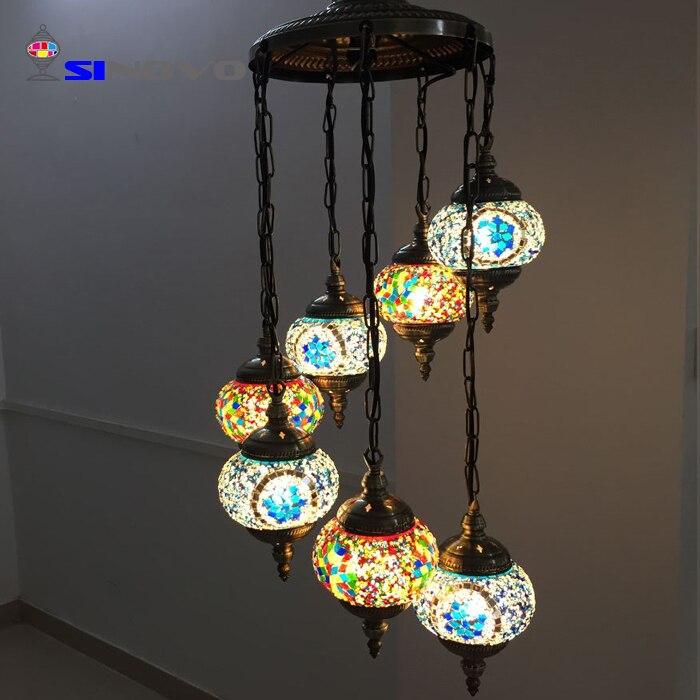 6 Sinovo Creativo di Stile Turco di Shenzhen Grande Albergo Ottone Antico Ramo Lampadario con Teste di Luce Lampadario Cucina - 2
