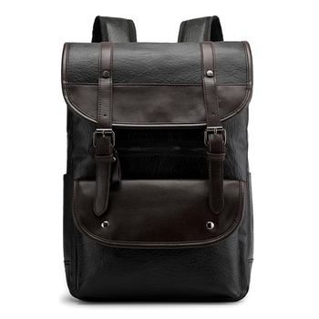 Large Vintage Backpack Men Laptop Leather Backpacks For School Bags 15.6 Inch Notebook Bagpack Travel Waterproof Business Bag