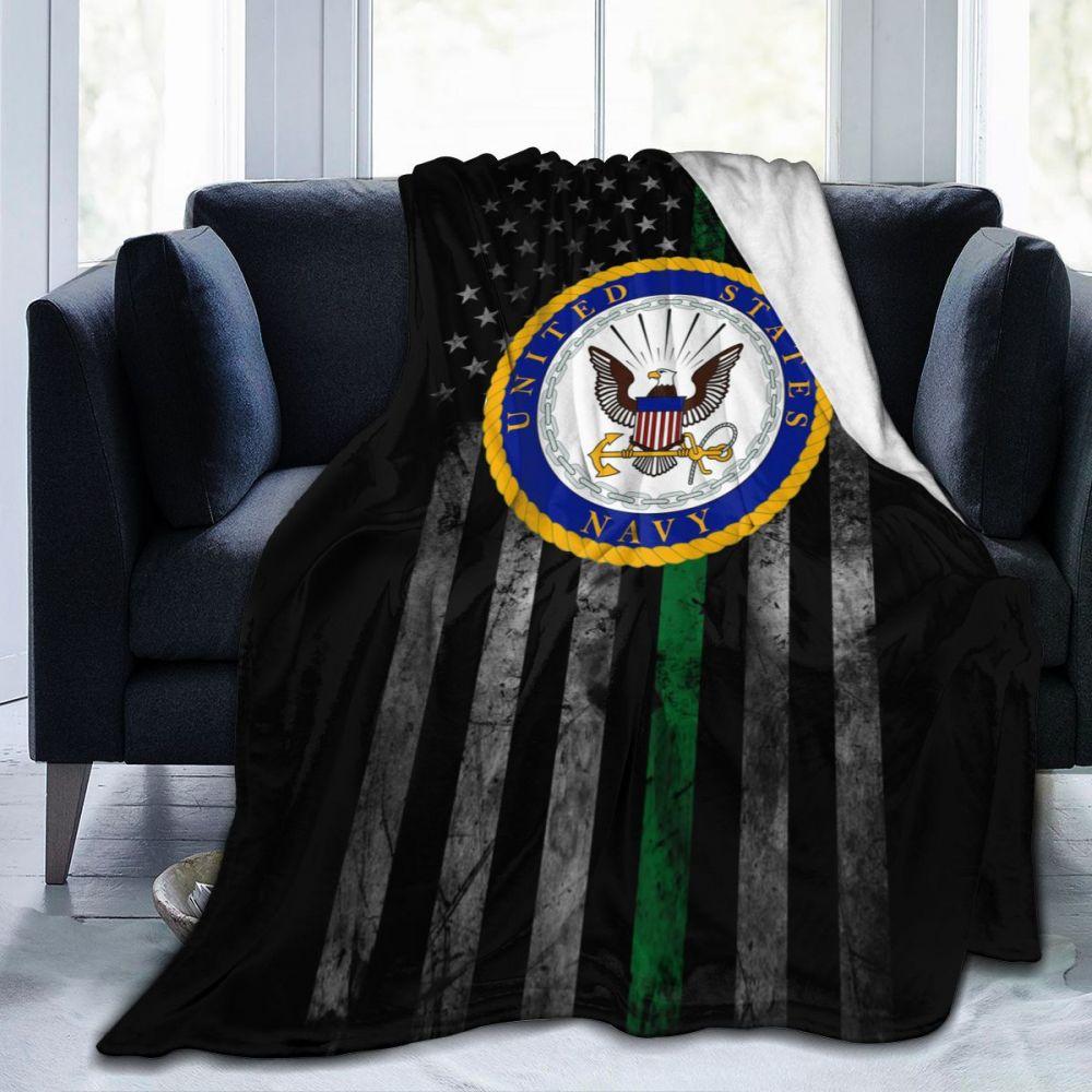 US Navy Department Seal Ultra Soft Cozy Throw Lightweight Micro Flannel Fleece Sofa All Season Living Room/Bedroom Warm Blanket-0