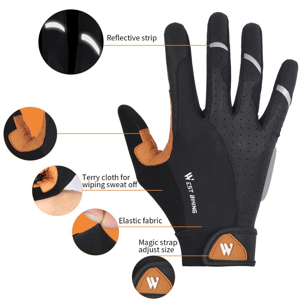 WEST BIKING Bike Gloves Half Finger Anti sweat Anti slip Bike Bicycle  Gloves Full Finger Summer Sports Breathable Cycling Gloves|Cycling Gloves|  - AliExpress