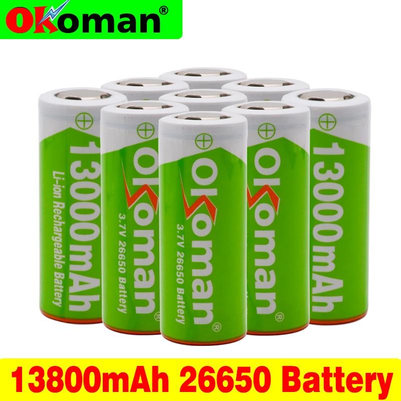 100% Новый оригинальный 26650 3,7 в 13800 мАч 18650 литиевая аккумуляторная батарея для аккумуляторного блока Электроинструмент фонарик батареи