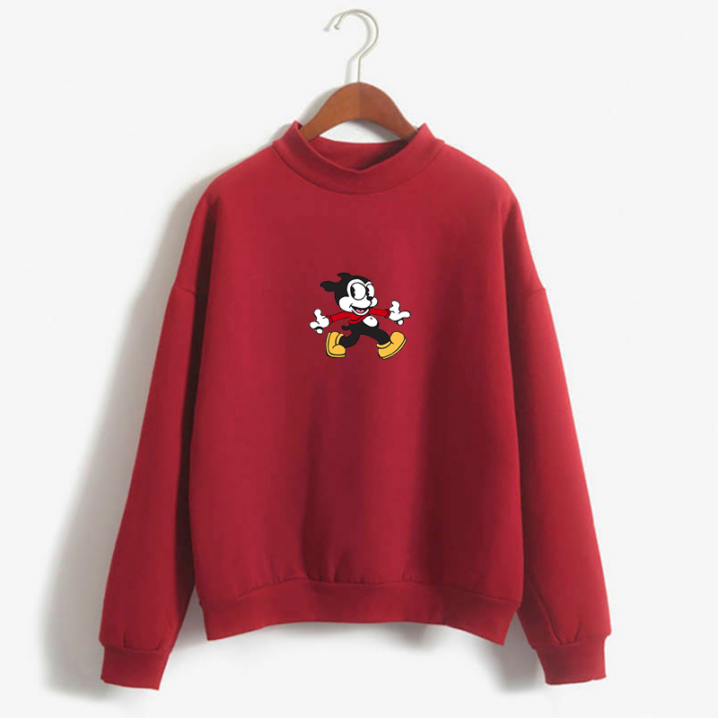 Betty Boop-Bimbo The Dog Harajuku Pullover Clothes Streetwear Fashionable Ladies Hoodies
