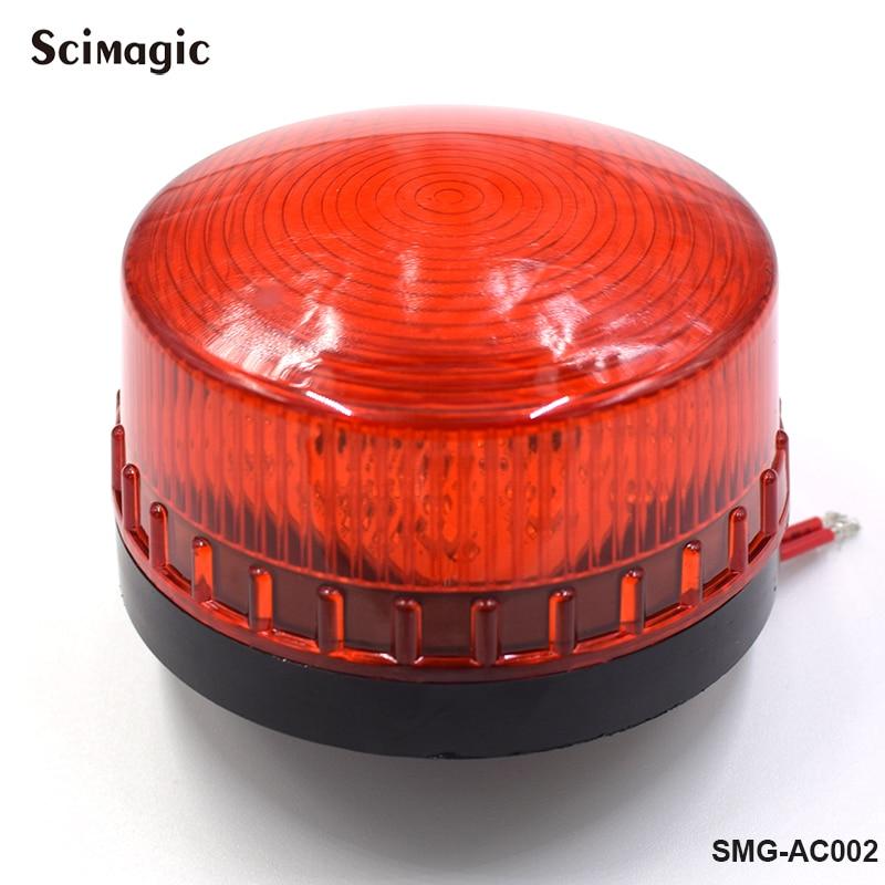 1x DC 12V Or 24V LED Gate Flashing Light Lamp Alarm Lamp For Swing Sliding Gate Opener/Barrier Gate Signal Strobe Flashing Lamp