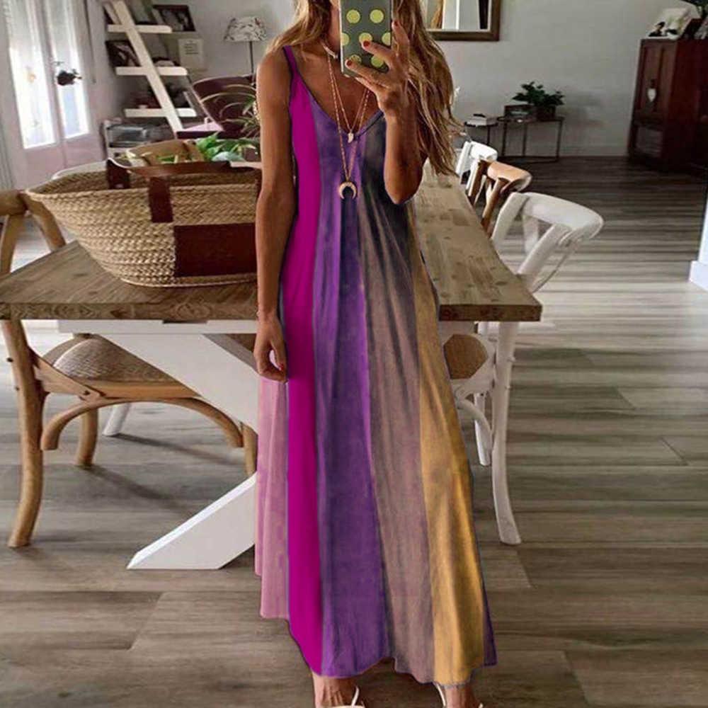 Bohemian In Hình Nữ Bể ĐẦM MÙA HÈ Mỏng Dây Đầm Ngủ Sexy Ren Cổ Chữ V Đầm Maxi Rời Vestidos Bãi Biển Sundress