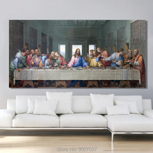 Leonardo Da Vinci's The Last Supper Wall Art Hand Painted Canvas Painting Famous Oil Painting Art for Living Room Cuadros Decor leonardo and the last supper