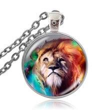 Karairis модное кабошон стеклянное ожерелье кулон дикие животные