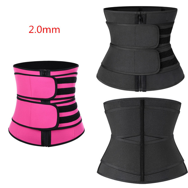 Women Waist Trainer Body Shapers Slimming Sheath Tummy Reducing Shapewear Belly Sweat Strips Sauna Corset Workout Trimmer Belts 3