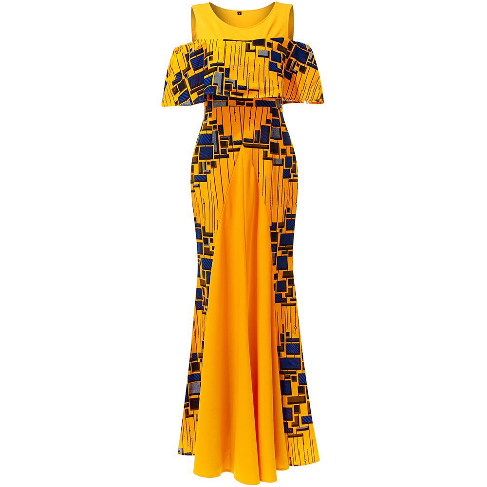 African Dresses For Women Maxi Dress Party Wedding Dresses African Dress 2020 Ankara Print Dresses African  Traditional Clothing