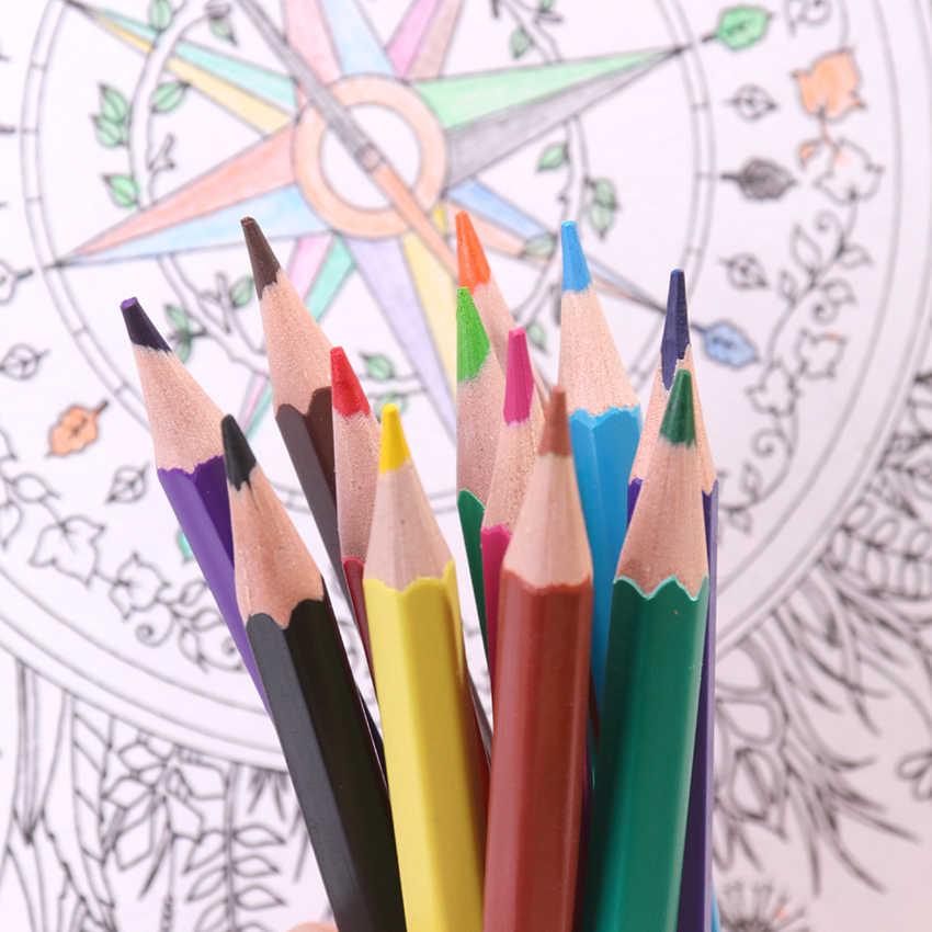 12PCS Colore Matite di Legno Naturale Matite Colorate di Disegno Professionale Matite Per La Scuola Ufficio Artista Pittura Schizzo Forniture