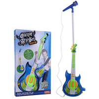 2019 New Children Electric Guitar Karoake Music Toy with Micphone Stand Musical Instrument Play Set For Kids Blue/Pink