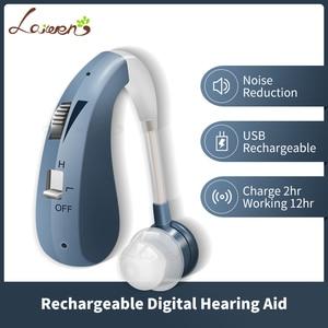 Image 2 - Mini recarregável digital aparelho auditivo amplificadores de som sem fio próteses auditivas para idosos moderado a grave perda transporte da gota