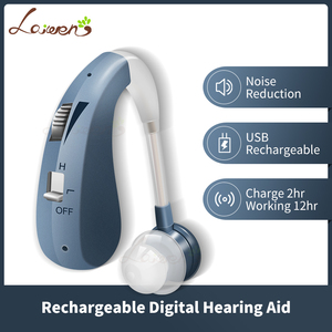 Image 2 - Rechargeable Mini Digital Hearing Aid Sound Amplifiers Wireless Ear Aids for Elderly Moderate to Severe Loss Drop Shipping