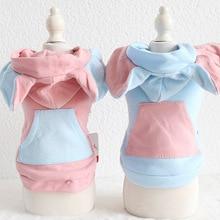 Clothing Shirt Hoodies Coats Yorkie Pet-Dog MALTESE Winter Big Cotton for Dogs Cat Ear-Elephone